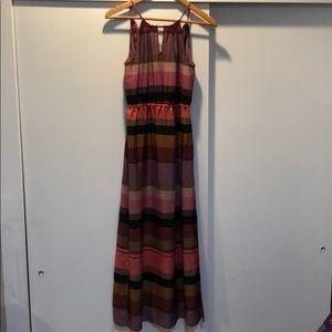 LOFT Earthy Pink Maxi-Dress